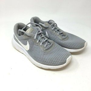 Nike Unisex Kids Gray Lace Up Sneakers 5Y
